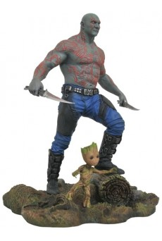 Estatua Drax & Baby Groot 25cm - Guardianes de la Galaxia Vol. 2 - Marvel Gallery - Diamond Select