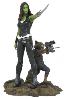 Estatua Gamora & Rocket Raccoon 25cm - Guardianes de la Galaxia Vol. 2 - Marvel Gallery - Diamond Select