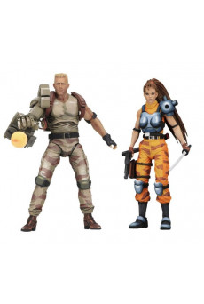Figuras Dutch y Linn - Alien vs Predator - Neca