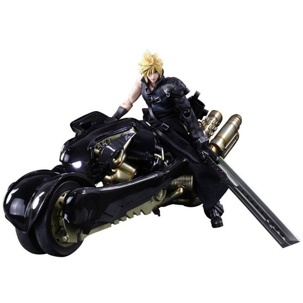 Figura Cloud Strife y Fenrir - Final Fantasy VII Advent Children - Play Arts Kai - Square Enix