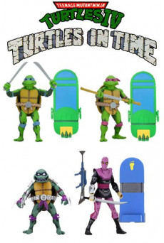 Figuras Turtles In Time - Las Tortugas Ninja - Neca