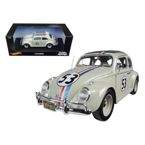 Réplica Herbie – The Love Bug (Ahí va ese bólido) – Hot Wheels – Escala 1/18